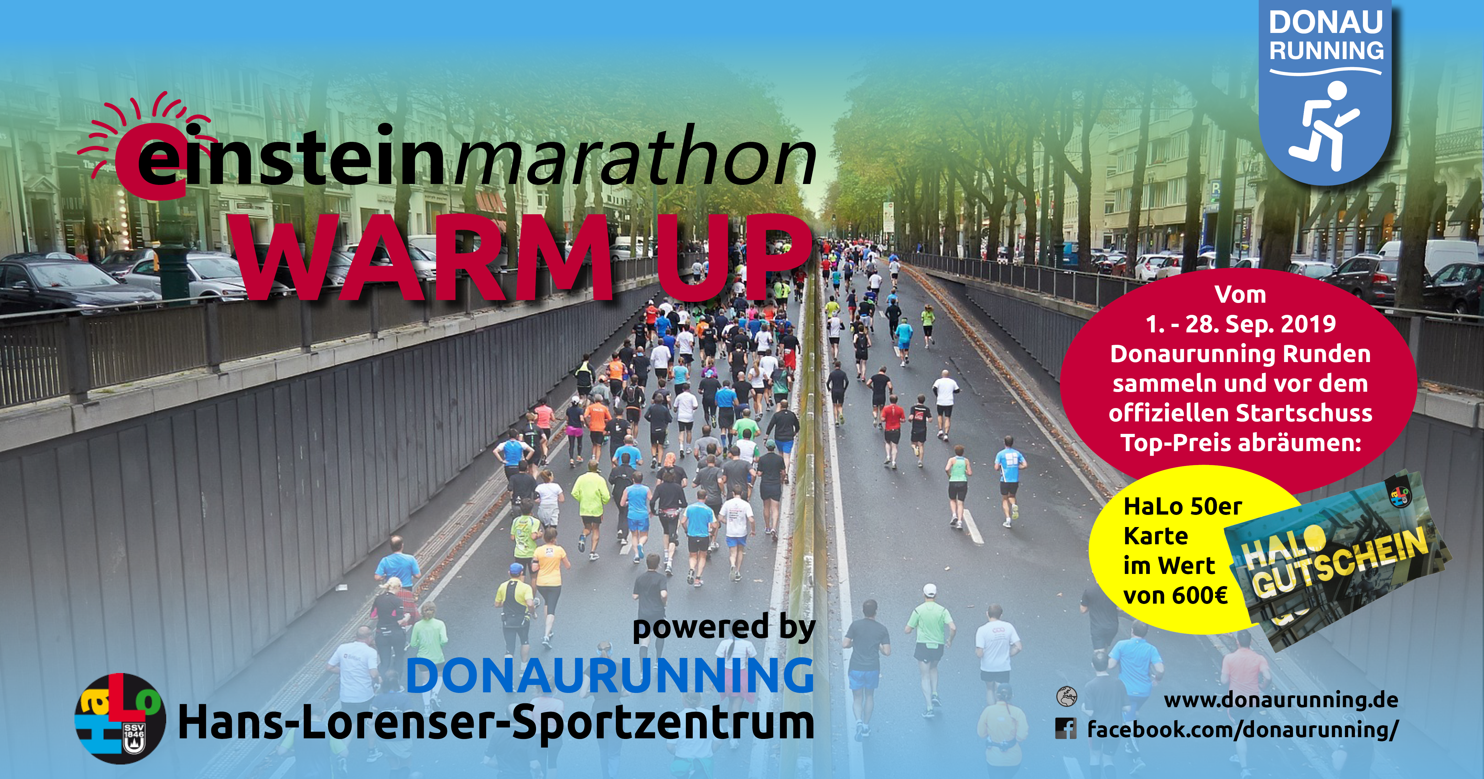 Einstein-Marathon Warm-Up powered by Donaurunning und Hans-Lorenser Sportzentrum